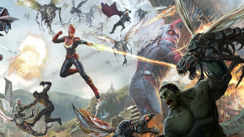 Concept art of the first-ever Avengers ride.
