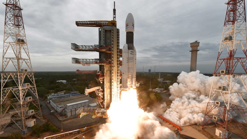 Launch of ISRO's GSLV Mk-III rocket on Monday, July 22, from the Satish Dhawan Space Centre at Sriharikota.