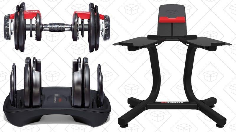 Bowflex SelectTech 552 Adjustable Dumbbells + Stand | $300 | Amazon