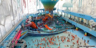 Illustration for article titled The Beautiful Water Cube In Beijing Is Now A Water Theme Park