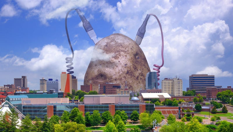 Illustration for article titled Green Energy Scientists Unveil 800,000-Ton Potato Capable Of Powering Entire City