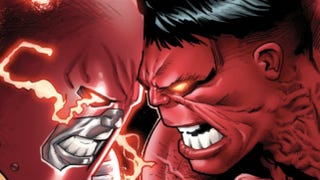 Illustration for article titled An exclusive first look at Colossus versus Red Hulk from Avengers Vs. X-Men!