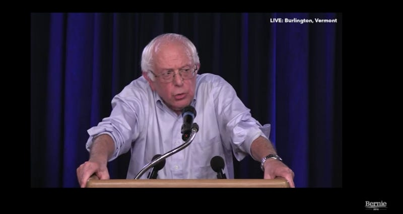 Screenshot via YouTube/Bernie 2016