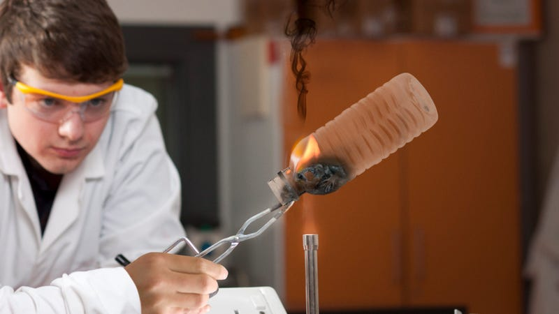 Illustration for article titled Chemistry Teacher Encouraging Students To Fuck Around With Bunsen Burners In Last-Ditch Effort To Prove Science Is Cool