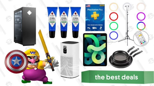 Wednesday s Best Deals: Hasbro Toy Sale, HP Omen 25L w/ RTX 3070, iPad Air, Ring Light Kit, Jack Black Lip Balm, PlayStation Plus, Proscenic Air Purifier, and More