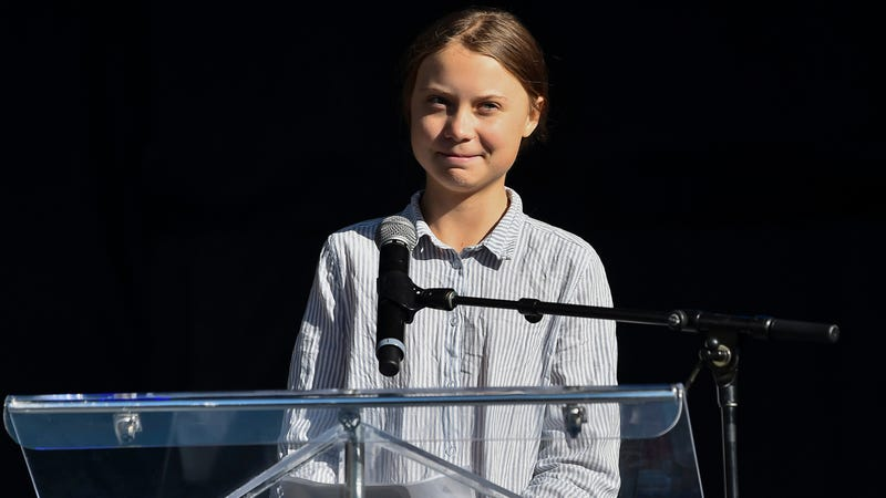 Greta Thunberg at a rally in Montreal in September 2019.
