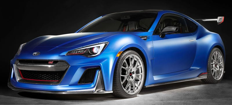 Illustration for article titled The Subaru BRZ STI Performance Concept Nears Perfection Without A Turbo