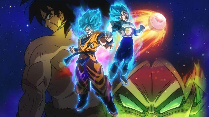 Parte del póster de la película Dragon Ball Super: Broly.