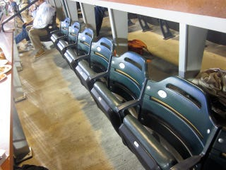 Illustration for article titled This Is What Team Deadspin Looked Like At Last Night's Company Outing To The Mets Game