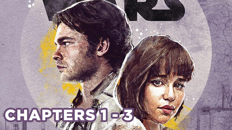 Han and Qi'ra on the cover of Star Wars: Most Wanted by Rae Carson.