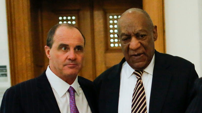 McMonagle and Cosby outside the courthouse last week. (Photo: Getty Images)
