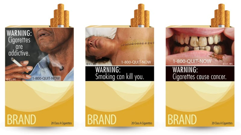 Illustration for article titled See The Grisly Warning Labels Coming To Cigarette Packs
