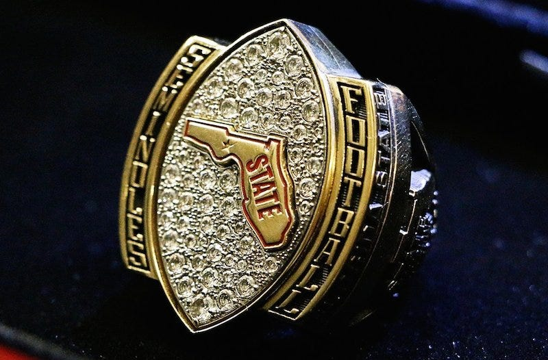 florida p seminoles a football ring c gold champions state rings htm