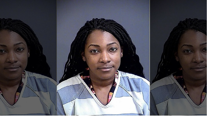 Jennifer Danielle Olajire-Aro, 27, who faces charges because of an alleged sexual relationship with a 17-year-old student (Cannon Detention Center)