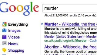 """Illustration for article titled Anti-Choicers Link """"Abortion"""" To """"Murder"""" On Google"""