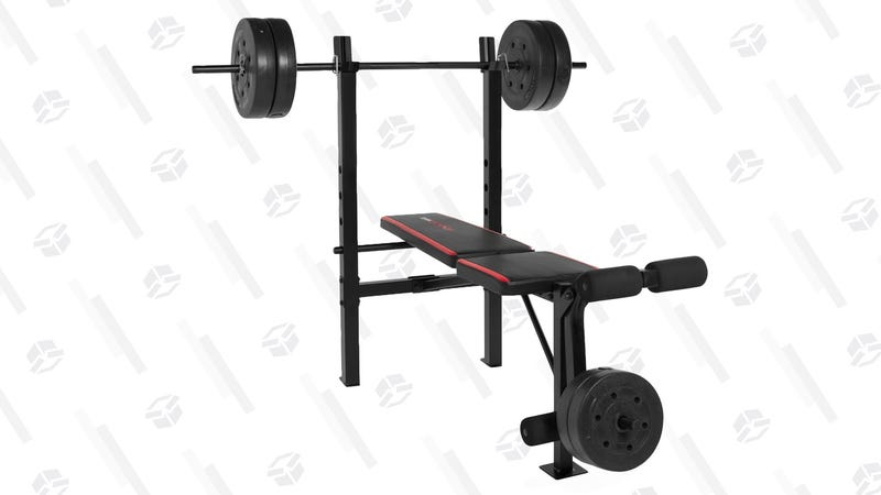 This 79 Cap Weight Bench Includes 100 Pounds Of Weights
