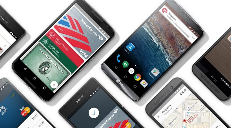 Illustration for article titled Android Pay Can Be Tricked Into Running On Some Phones Right Now