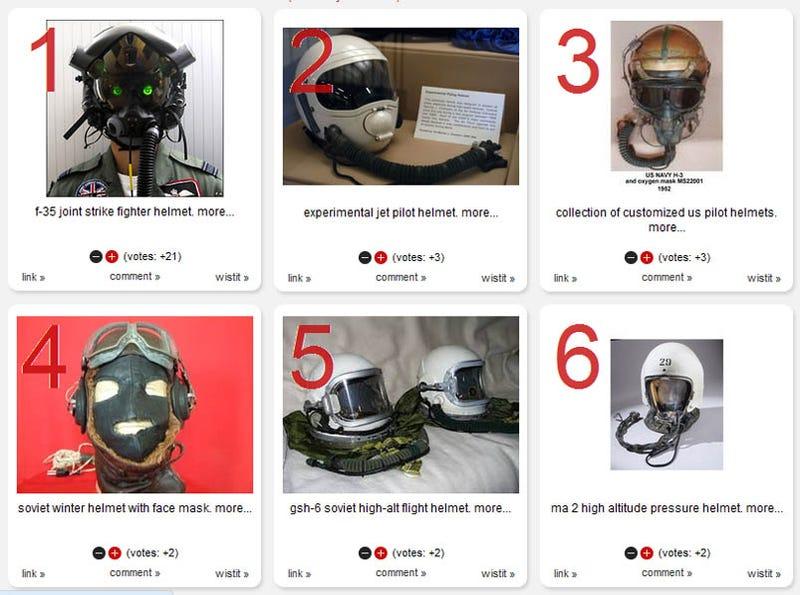 Illustration for article titled 12 Eye-Popping Flight Helmets