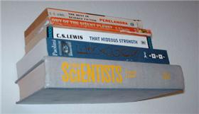 Illustration for article titled DIY invisible bookshelf