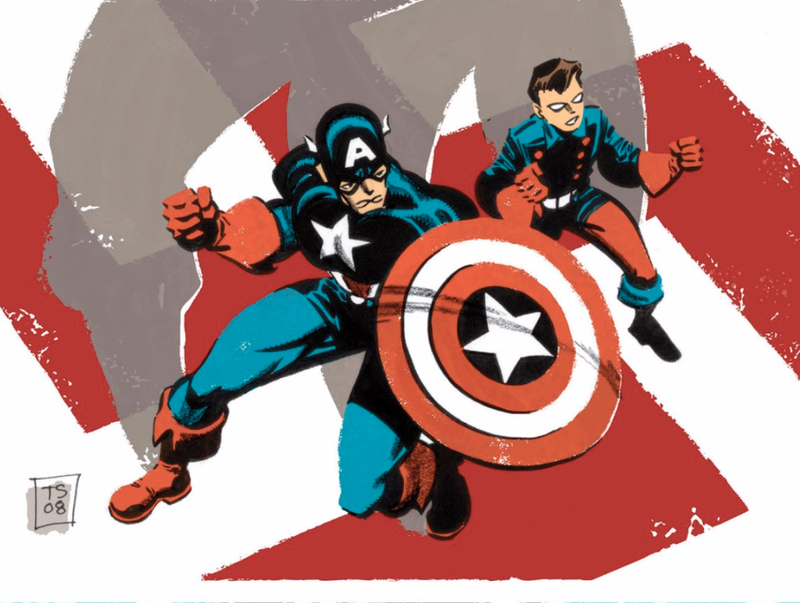 Illustration for article titled The Captain America Comic Book That Got Frozen in Time