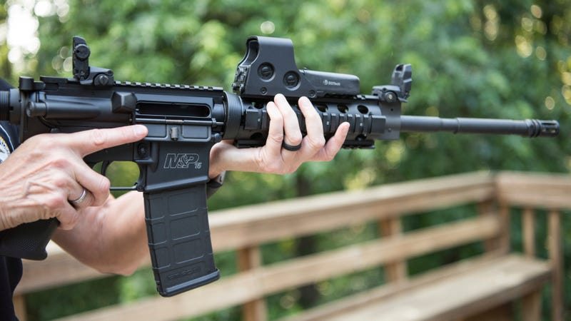 Stock image of an AR-15 modular rifle. Photo: AP