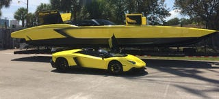 Illustration for article titled This Man Built A $1.3 Million Lamborghini Speedboat With 2,700 HP