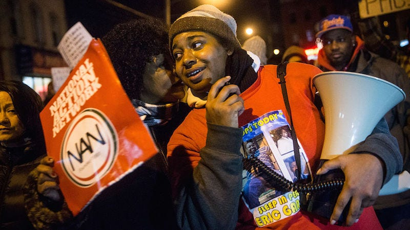 Illustration for article titled Erica Garner Says She Was Lied to So That She'd Appear at Obama's Town Hall on Race Relations