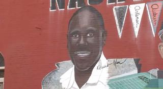 Derek Mason as portrayed on the muralYouTube