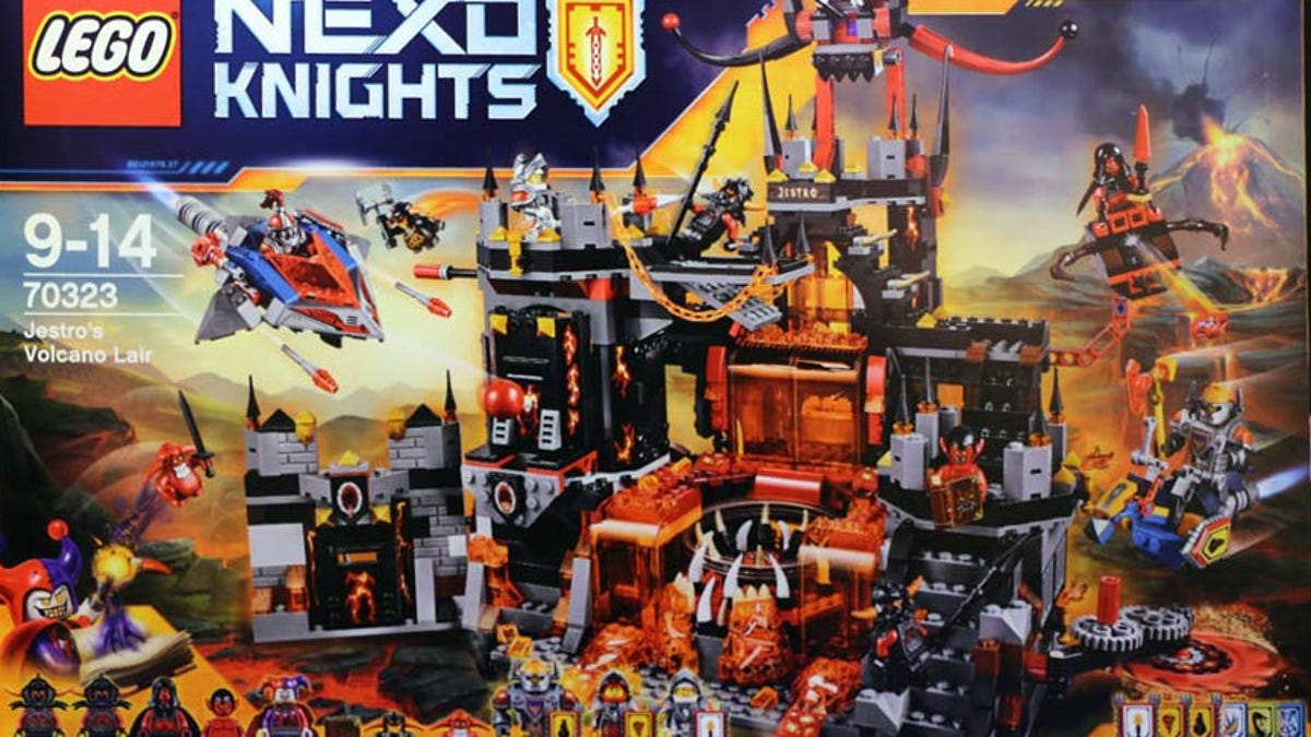 Toy Time Builds Lego Nexo Knights' Volcano Lair