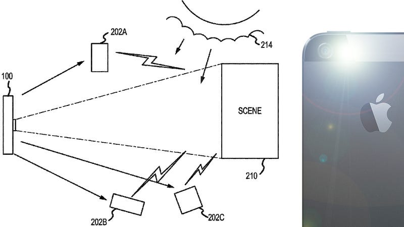 Illustration for article titled Apple Patent Would Turn Your Friend's iPhones Into a Lighting Kit