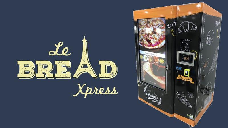 Illustration for article titled Baguette vending machine smart, frightening