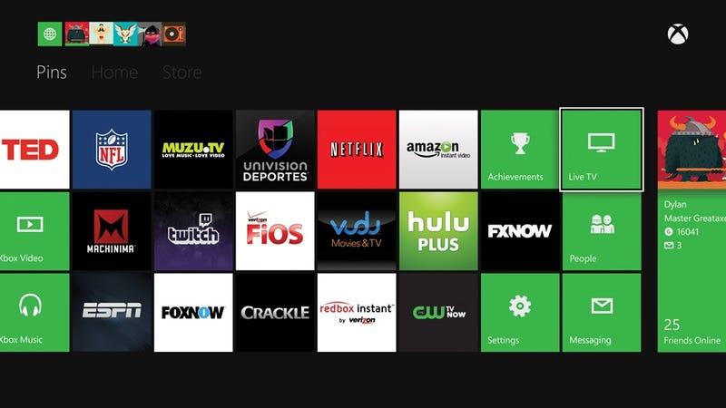 Illustration for article titled Estas son las apps que verás de inicio en la Xbox One