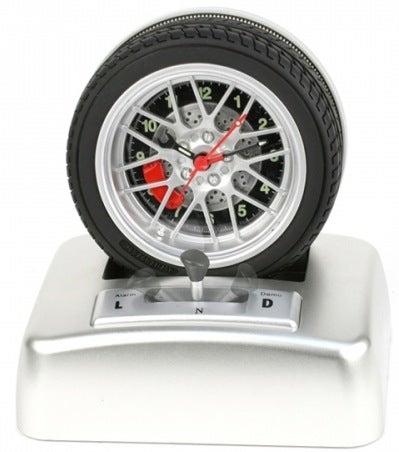 Illustration for article titled Car Wheel Alarm Clock