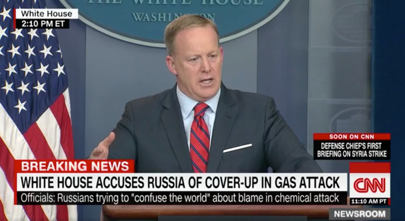 Illustration for article titled Sean Spicer Concedes Hitler Used Chemical Weapons on Jews in 'the Holocaust Centers'