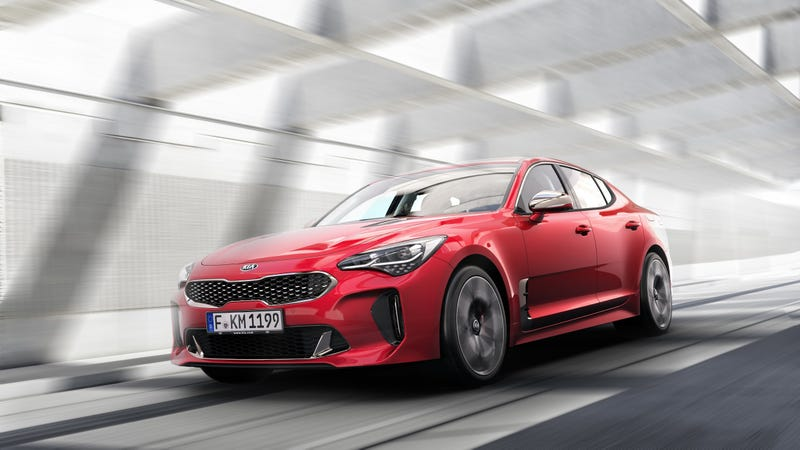 Illustration for article titled The 2018 Kia Stinger Will Be Louder So Us American Cowboys Can Hear It