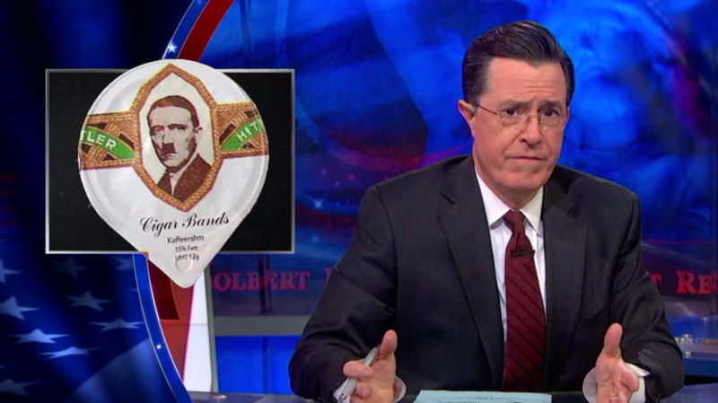 Illustration for article titled Stephen Colbert Goes In On The Damn Swiss And Their Nazi Creamer