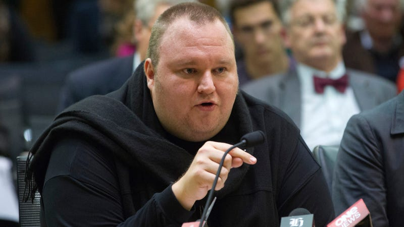 Kim Dotcom at a 2013 hearing before New Zealand's parliament.
