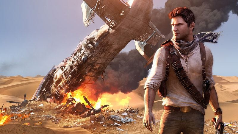 """Illustration for article titled Uncharted's Nathan Drake spends a lot of time saying """"No!"""""""
