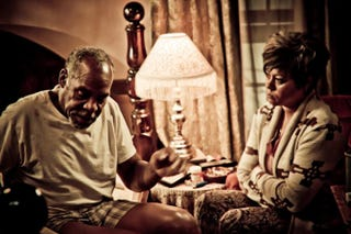 Danny Glover and Lela Rochon in a scene from the movie SupremacyNYADIFF.ORG