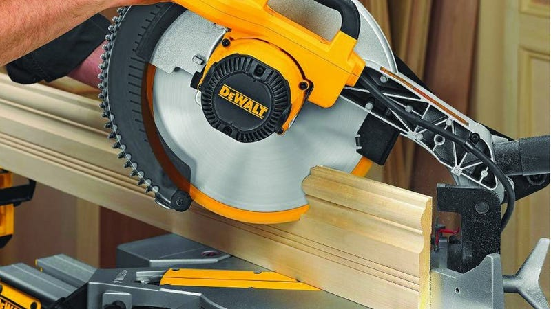 DEWALT DW715 15A Miter Saw | $154 | Amazon | After $25 DEWALT discount, shown at checkout