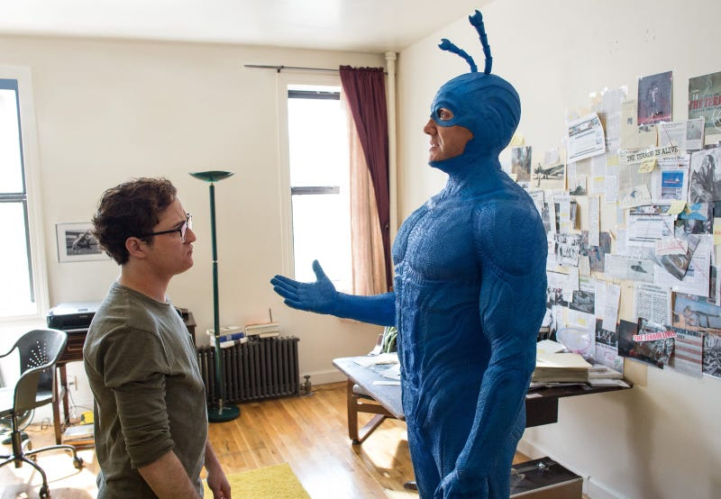 Illustration for article titled The Tick Shows Off More of Its Heroes, Villains, and the Main Character's Weird-Ass New Outfit