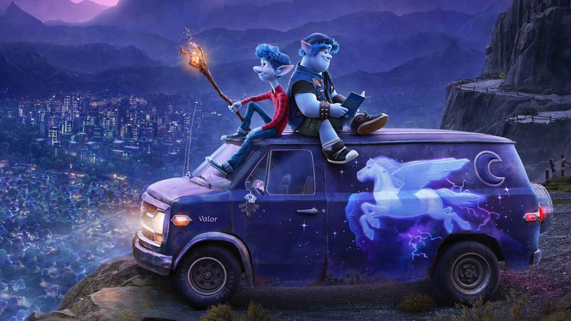 Pixar's suburban fantasy Onward opens next March.