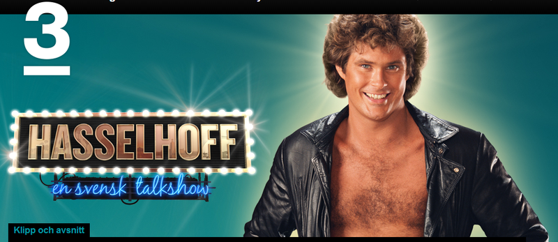 Illustration for article titled David Hasselhoff has a talk show in Sweden
