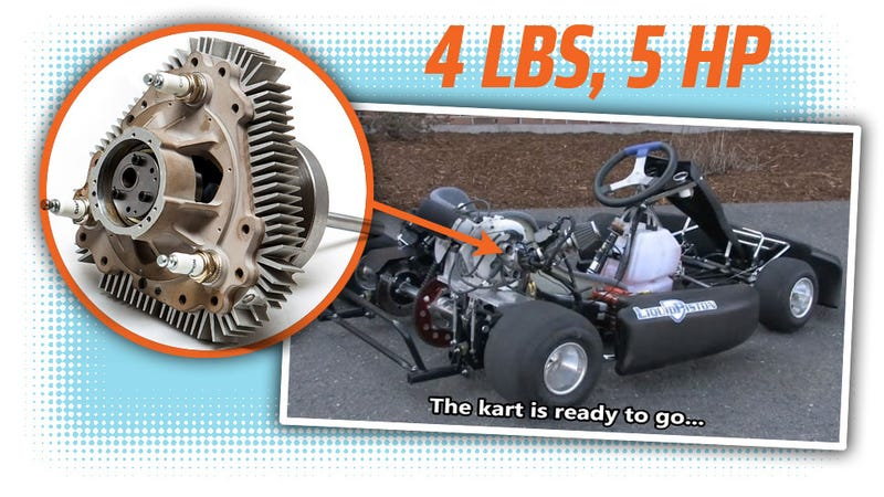 tiny rotary engine that 39 s not a wankel powers go kart for the first time. Black Bedroom Furniture Sets. Home Design Ideas