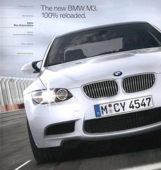 Illustration for article titled BMW M3 Brochure ist Online
