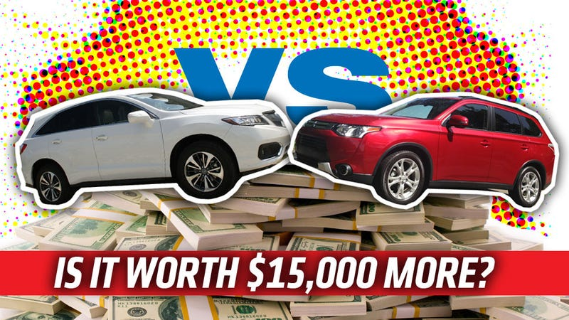 Illustration for article titled Acura RDX vs. Mitsubishi Outlander: Is It Worth Spending An Extra $15K?