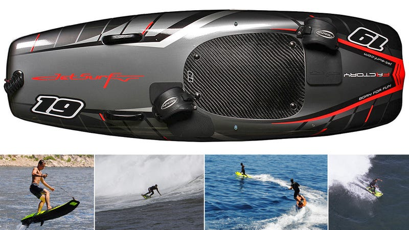 This gas powered surfboard can hit 35 mph without a single Surf board motor