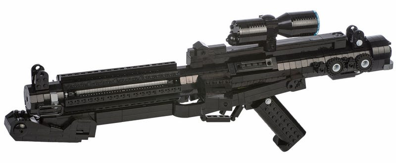 Illustration for article titled The Iconic Star Wars Stormtrooper Blaster Flawlessly Recreated in Lego