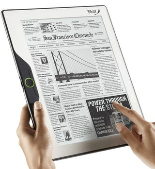 Illustration for article titled Skiff Reader: The Largest Yet Thinnest eBook Reader to Date