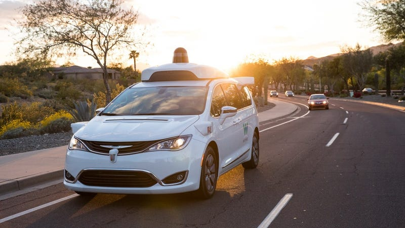 One of Waymo's Chrysler Pacificas in the Phoenix area.